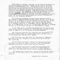 Minutes of Charter Meeting, February 20, 1958