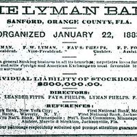 Lyman Bank Advertisement