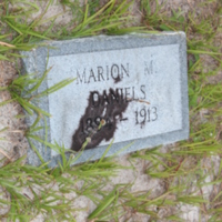Headstone of Marion M. Daniels at Viking Cemetery