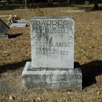 Headstone for Joseph A. Barber at Conway United Methodist Church Cemetery