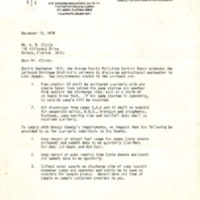 Letter from John R. Dollar to W. R. Clonts (December 10, 1979)